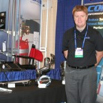 Jeff Post at Corsair's booth at IBEX