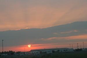 Sunrise somewhere in Ohio heading back to Boston