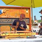 Doug Amidon chiseling wood