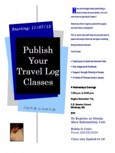 Publish Your Travel Log Class